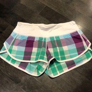 Lululemon plaid original speed shorts